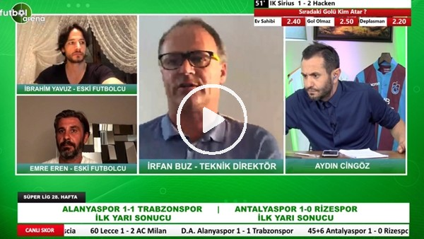 'Aytemiz Alanyaspor - Trabzonspor Maçının İlk Yarısından Notlar | İrfan Buz Aktardı