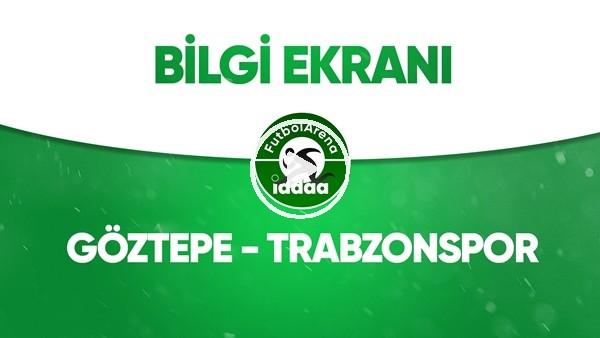 'Göztepe - Trabzonspor Bilgi Ekranı (12 Mayıs 2020)