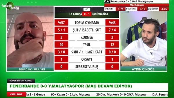 'Fenerbahçe - Yeni Malatyaspor Maçının İlk Yarısından Öne Çıkan Notlar