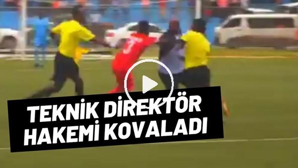 Somali Ligi'nde kırmızı kart gören teknik direktör hakemi kovaladı