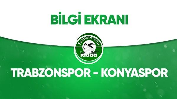 'Trabzonspor - Konyaspor Bilgi Ekranı (19 Temmuz 2020)