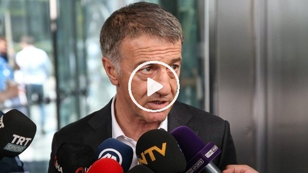 """'Ahmet Ağaoğlu: """"İnşallah kupayı kaldıran Trabzonspor olur"""""""