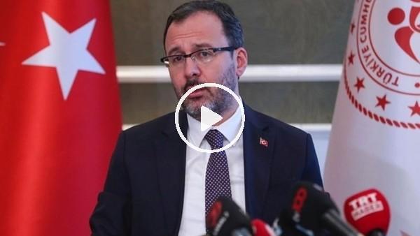 """Bakan Kasapoğlu açıkladı! """"Küme düşme kaldırıldı ve yabancı kuralı 1 yıl ertelendi"""""""