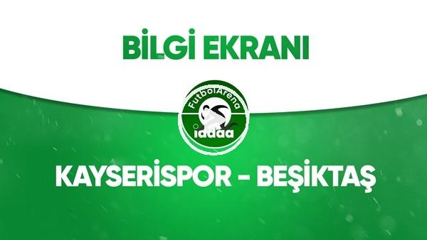 'Kayserispor - Beşiktaş Bilgi Ekranı (6 Temmuz 2020)