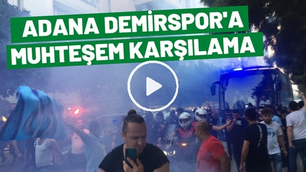 'Adana Demirspor Kafilesi Stada Geldi | Coşkulu Karşılama