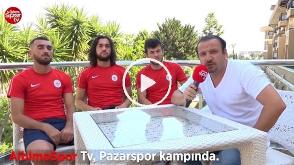 Pazarsporlu futbolcular Mehmet Aytemiz, Can Vural ve Oğuzhan Demir'den Albimo Spor TV'ye Açıklamalar