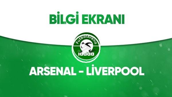 Arsenal - Liverpool Bilgi Ekranı (15 Temmuz 2020)