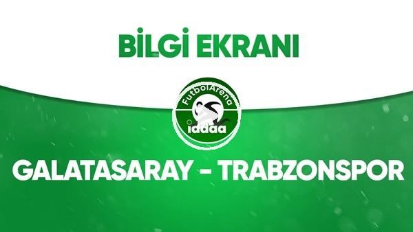 'Galatasaray - Trabzonspor Bilgi Ekranı (5 Temmuz 2020)