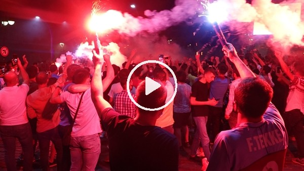 'Trabzonspor taraftarının büyük sevinci