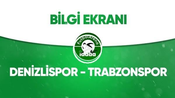 Denizlispor - Trabzonspor Bilgi Ekranı (13 Temmuz 2020)