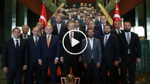 'Cumhurbaşkanı Erdoğan, şampiyon Medipol Başakşehir'i kabul etti