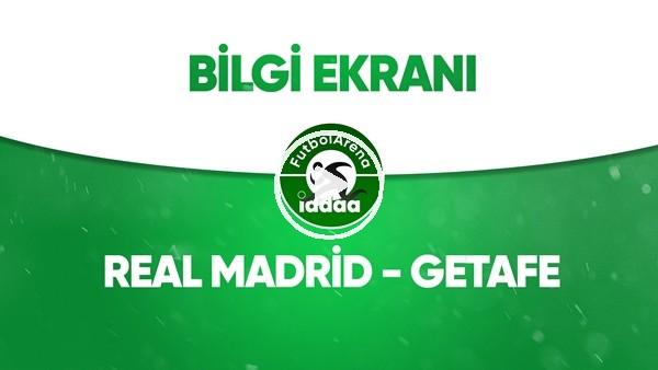 'Real Madrid - Getafe Bilgi Ekranı (2 Temmuz 2020)