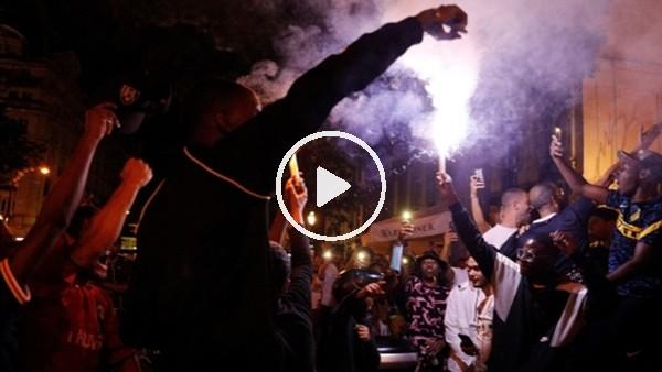 'PSG taraftarları Şampiyonlar Ligi finalini kutluyor