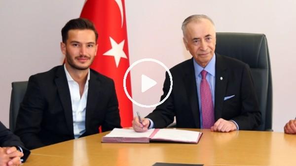 'Oğulcan Çağlayan'ın imza töreninde Mustafa Cengiz'in refleksi dikkat çekti