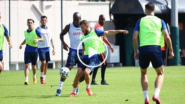 'Trabzonsporlu futbolcular penaltı çalıştı! Marlon'dan 'hazırım' mesajı
