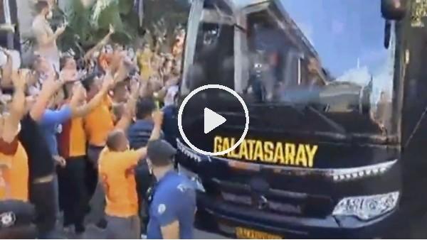 Galatasaray kafilesi stada doğru yola çıktı