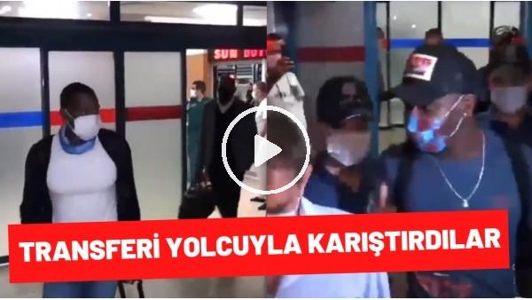 'Trabzon'da yeni transfer Afobe'yi siyahi bir yolcuya karıştırdılar