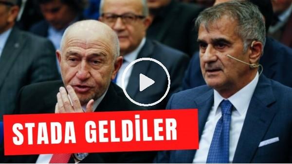 'Nihat Özdemir ve Şenol Güneş, Rizespor - Fenerbahçe maçını izlemek için stada geldi