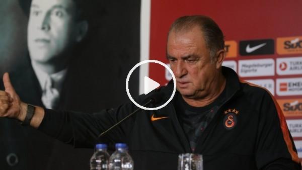 """'Fatih Terim: """"Futbolcuların hakeme gereksiz itiraz etmemesinden memnunum"""""""