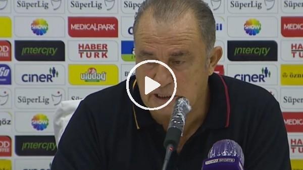 """Fatih Terim: """"Antep maçında da oyunu erken terk ettim. Her şeyi yazabilirler"""""""