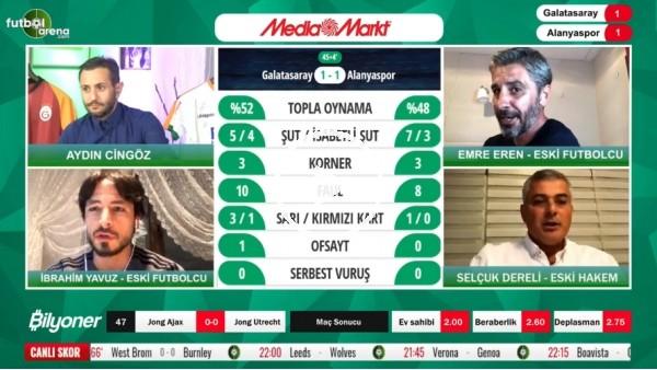 'Selçuk Dereli, Galatasaray - Alanyaspor maçının tartışmalı pozisyonlarını yorumladı