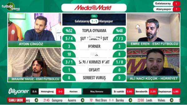 'Galatasaray - Alanyaspor maçının ilk yarısından notlar! Ali Naci Küçük aktardı