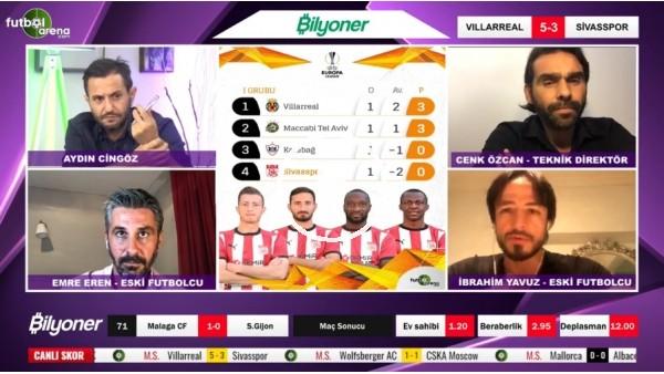 'Villarreal - Sivasspor maçından notlar