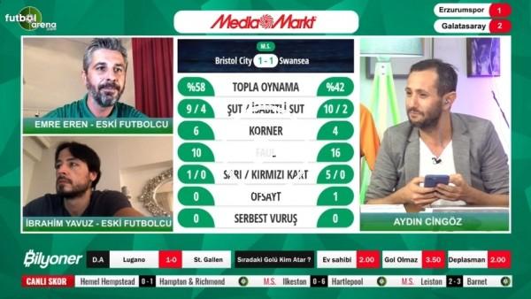 'BB Erzurumspor - Galatasaray maçından notlar