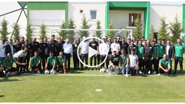 'Bakan Kurum, Konyaspor yönetimi ve oyuncularla bir araya geldi