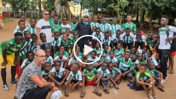 Nilüfer Bursasporlu iş adamları Gine'deki çocuklara forma hediye etti