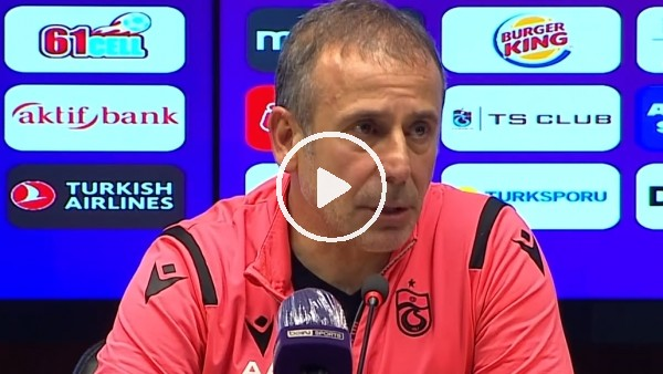 """Abdullah Avcı: """"Trabzonspor'un yukarıya ivme kazanması için çalışıyoruz"""""""