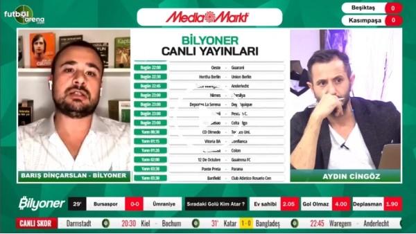 'Barış Dinçarslan, Beşiktaş - Kasımpaşa maçı için tahminini yaptı