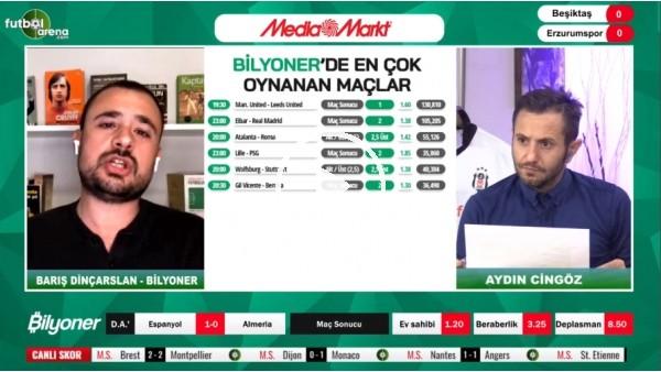 'Barış Dinçarslan, Beşiktaş - Erzurumspor maçı için tahminini yaptı