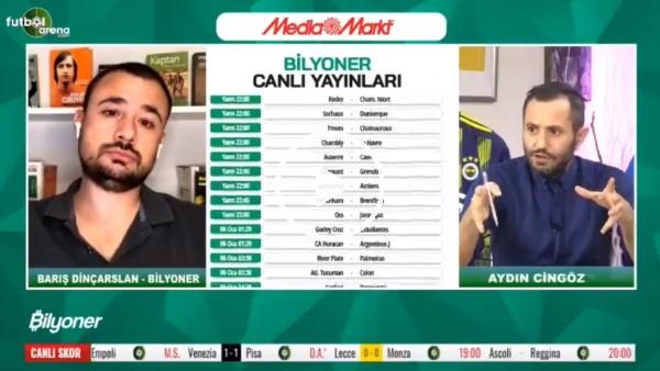 'Barıç Dinçarslan, Kasımpaşa - Fenerbahçe maçı için tahmini yaptı