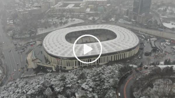 'Dev derbi öncesi Vodafone Park'taki son durum havadan görüntülendi