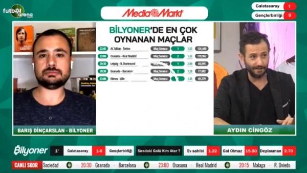 'Barış Dinçarslan, Galatasaray - Gençlerbirliği maçı için tahmini yaptı