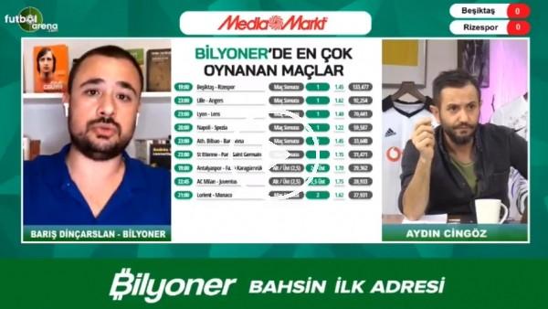 'Barıç Dinçarslan, Beşiktaş - Çaykur Rizespor maçı için tahmini yaptı