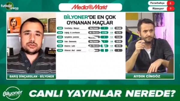 'Barış Dinçarslan, Fenerbahçe - Rizespor maçı için tahminini yaptı