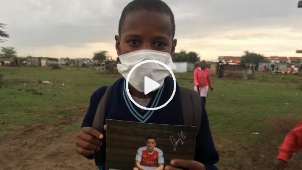 'Mesut Özil, 11 yaşındaki Kenyalı hayranına 1000 maske gönderdi
