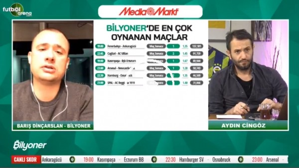 Barış Dinçarslan, Fenerbahçe - Ankaragücü maçı için tahminini yaptı