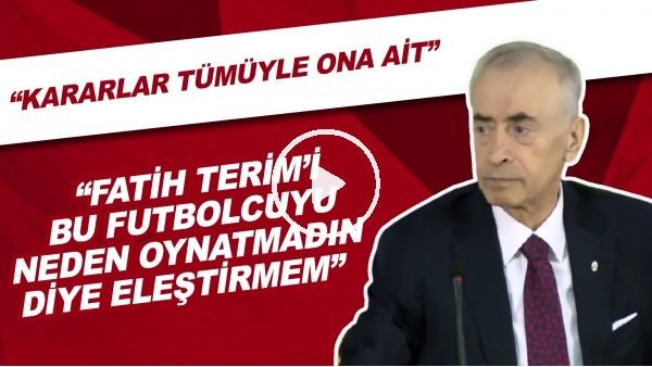 """Mustafa Cengiz: """"Fatih Terim'i bu futbolcuyu neden oynatmadın asla diye eleştirmem"""""""