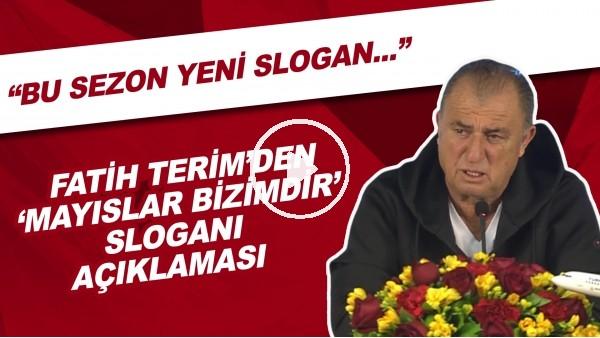 """'Fatih Terim'den """"Mayıslar bizimdir"""" Sloganı Açıklaması! Trabzonspor - Fenerbahçe Maçı Sorusuna Yanıt"""