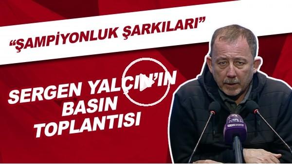 'Sergen Yalçın'ın basın toplantısı | Beşiktaş taraftarlarının şampiyonluk şarkıları için ne söyledi?