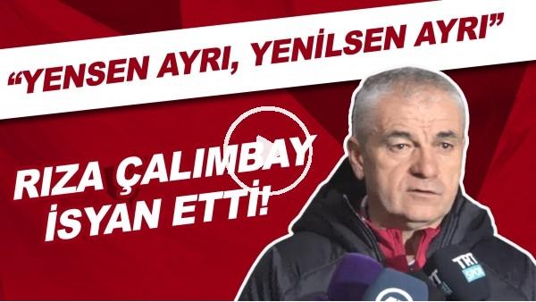 """'Rıza Çalımbay isyan etti! """"Beşiktaş maçlarında çok üzülüyorum. Yensen ayrı, yenilsen ayrı"""""""