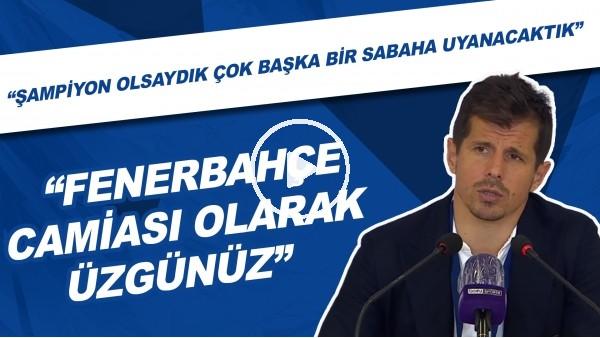 """'Emre Belözoğlu: """"Şampiyon olsaydık çok başka bir sabaha uyanacaktık. Çok üzgünüz"""""""