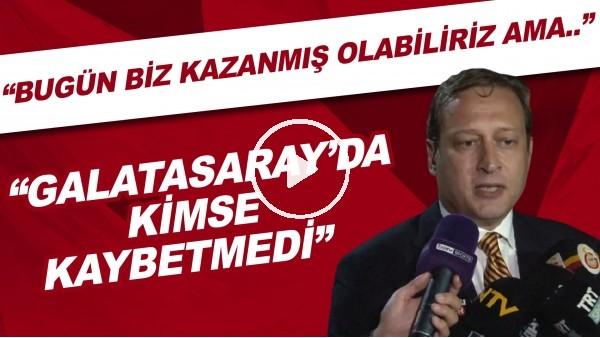 """'Burak Elmas: """"Bugün biz kazanmış olabiliriz ama Galatasaray'da kimse kaybetmedi"""""""