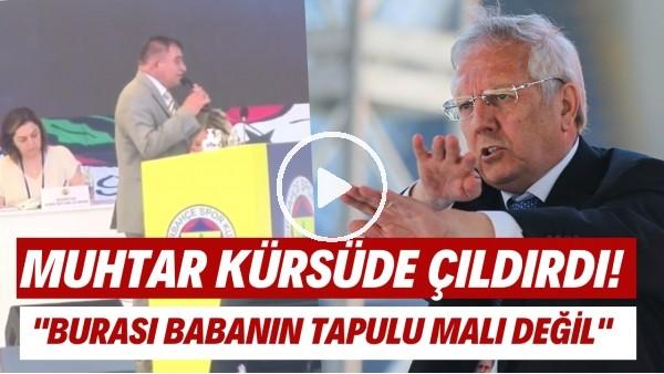 'Fenerbahçe Kongresi'nde muhtar kürsüde çıldırdı ve Aziz Yıldırım'a tepki gösterdi!