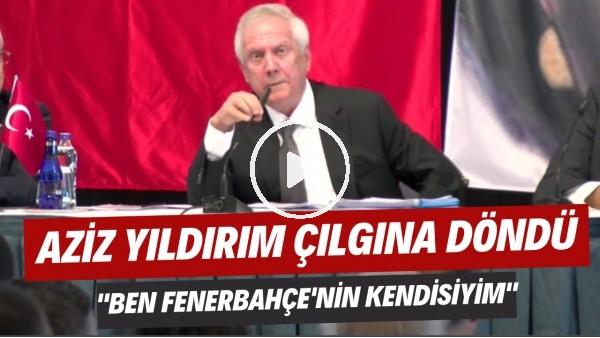 """'Aziz Yıldırım basın toplantısında çılgına döndü! """"Ben Fenerbahçe'nin kendisiyim"""""""