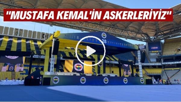 """'Fenerbahçe Kongre'sinde """"Mustafa Kemal'in Askerleriyiz"""" sesleri!"""