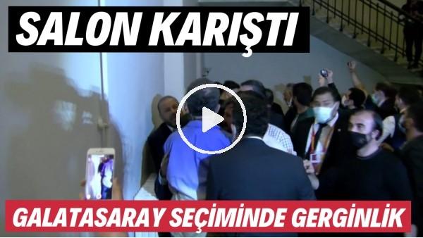 'Galatasaray seçiminde gerginlik! Salon karıştı...